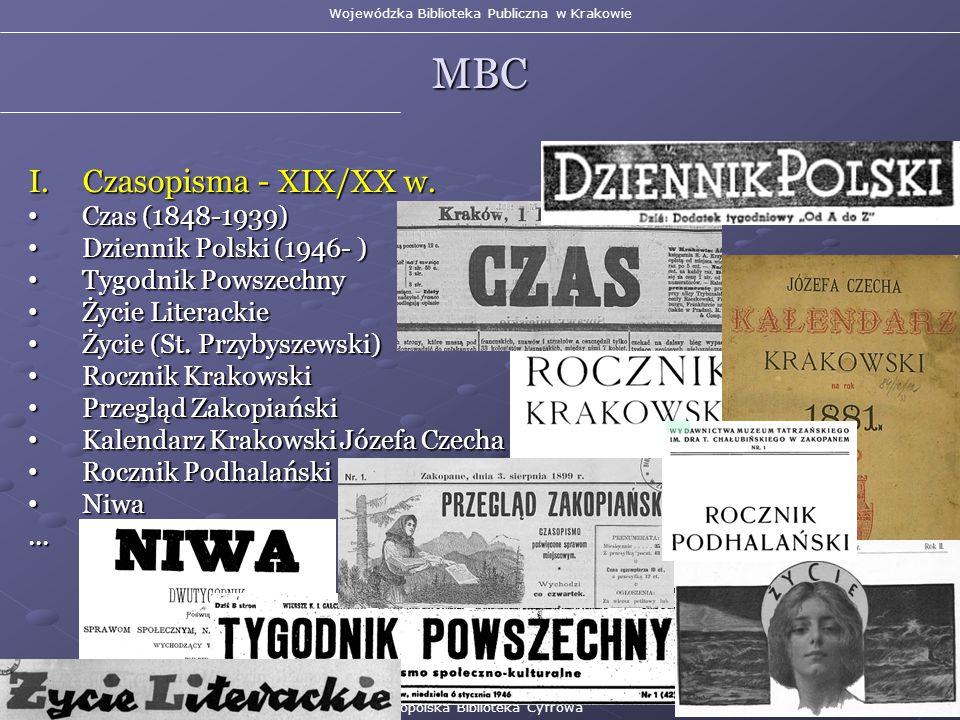 I.Czasopisma - XIX/XX w.