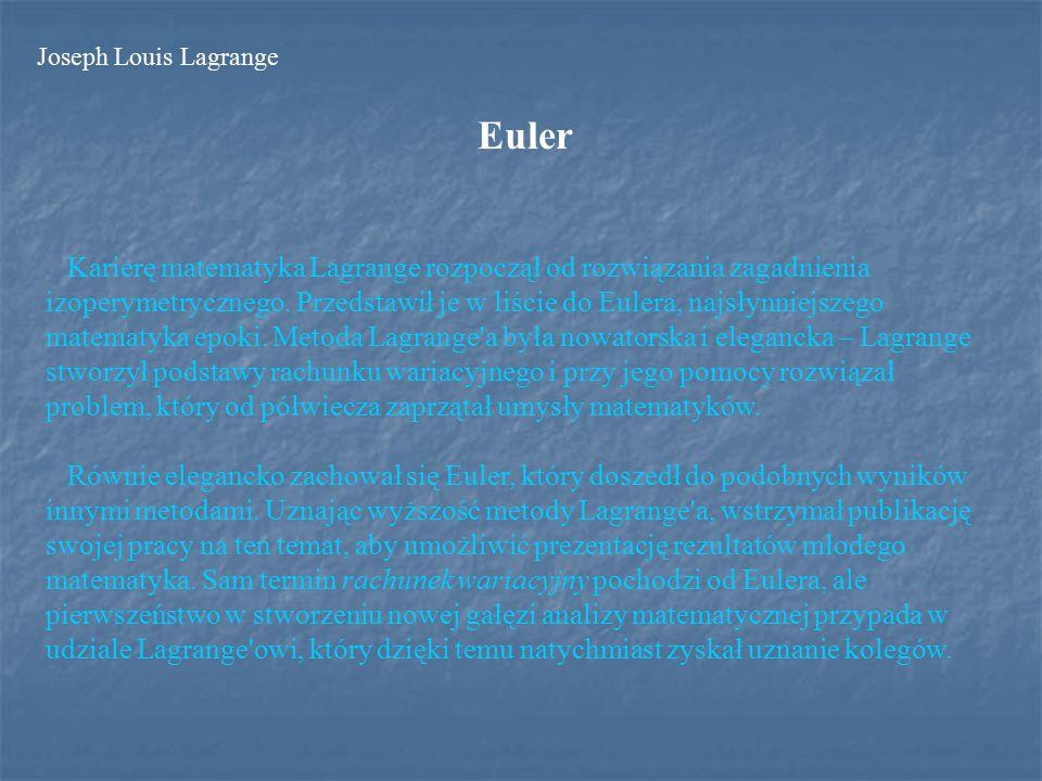 Teoria ułamków łańcuchowych Kolejne dzieło, Résolution des équations numériques, opublikowane w roku 1798, było również efektem wykładów na Politechnice.