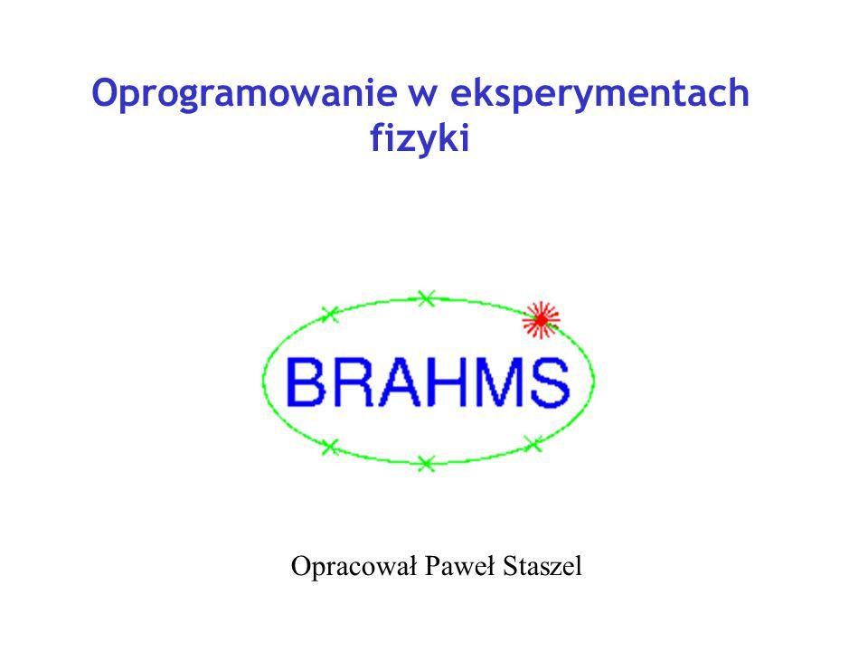 Oprogramowanie w eksperymentach fizyki Opracował Paweł Staszel
