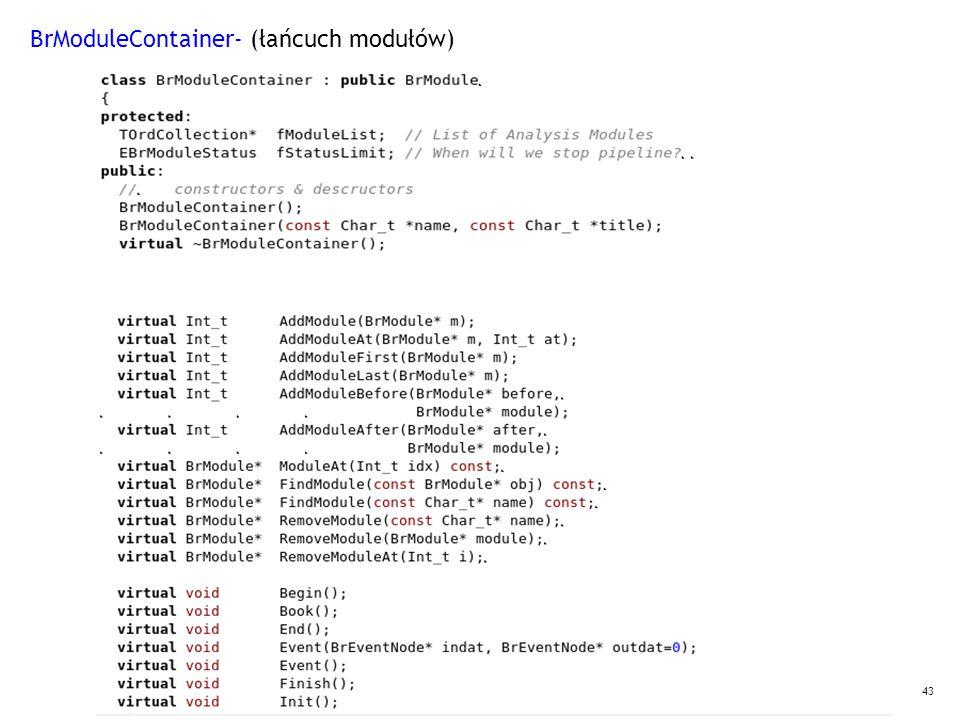 43 BrModuleContainer- (łańcuch modułów) 