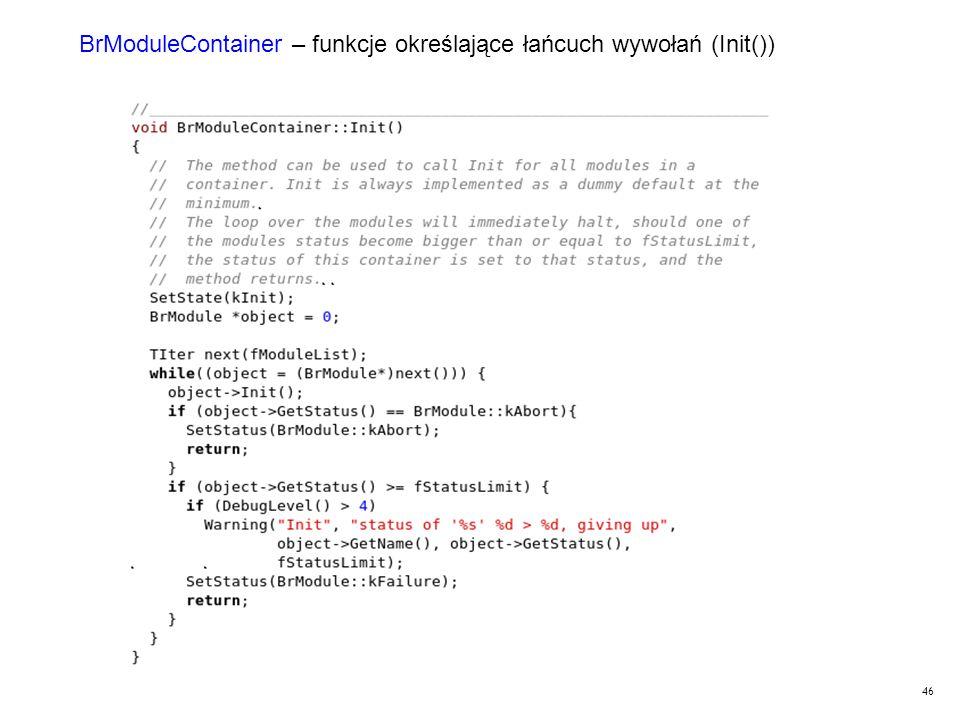 46 BrModuleContainer – funkcje określające łańcuch wywołań (Init())