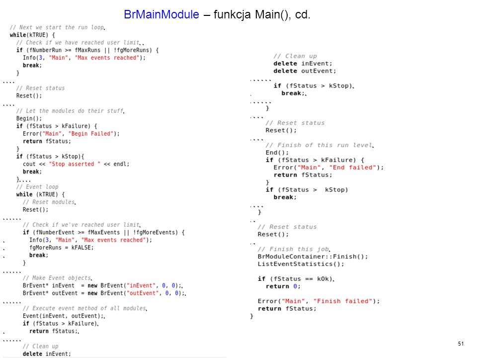 51 BrMainModule – funkcja Main(), cd.
