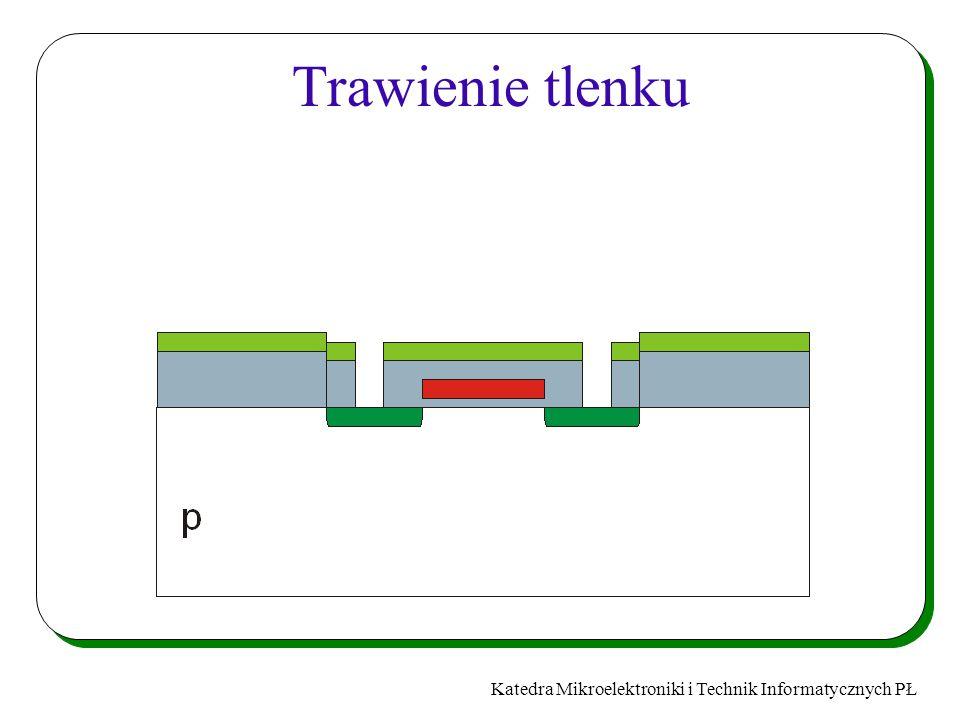 Katedra Mikroelektroniki i Technik Informatycznych PŁ Trawienie tlenku