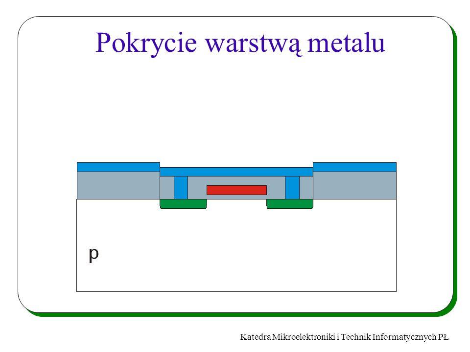 Katedra Mikroelektroniki i Technik Informatycznych PŁ Pokrycie warstwą metalu