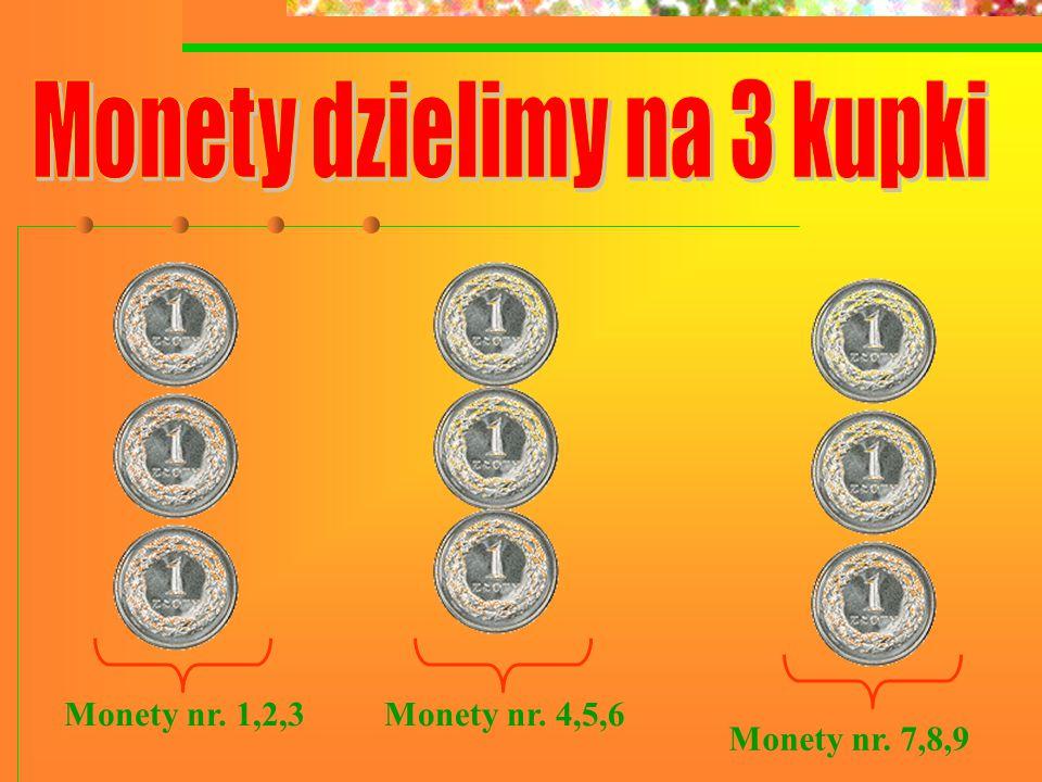 Monety nr. 1,2,3Monety nr. 4,5,6 Monety nr. 7,8,9