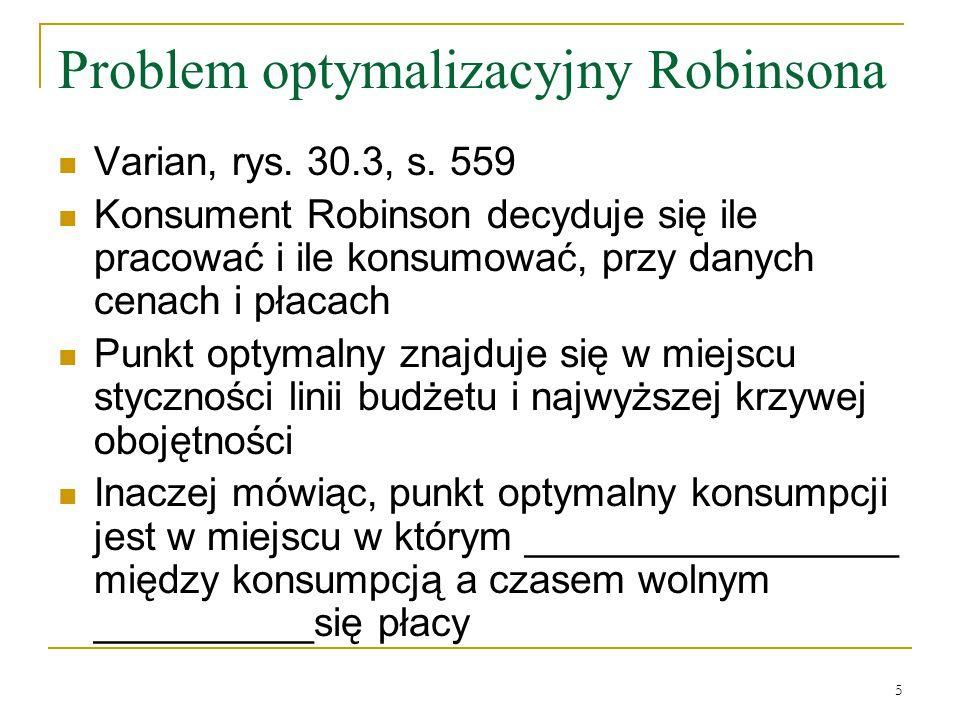 5 Problem optymalizacyjny Robinsona Varian, rys.30.3, s.