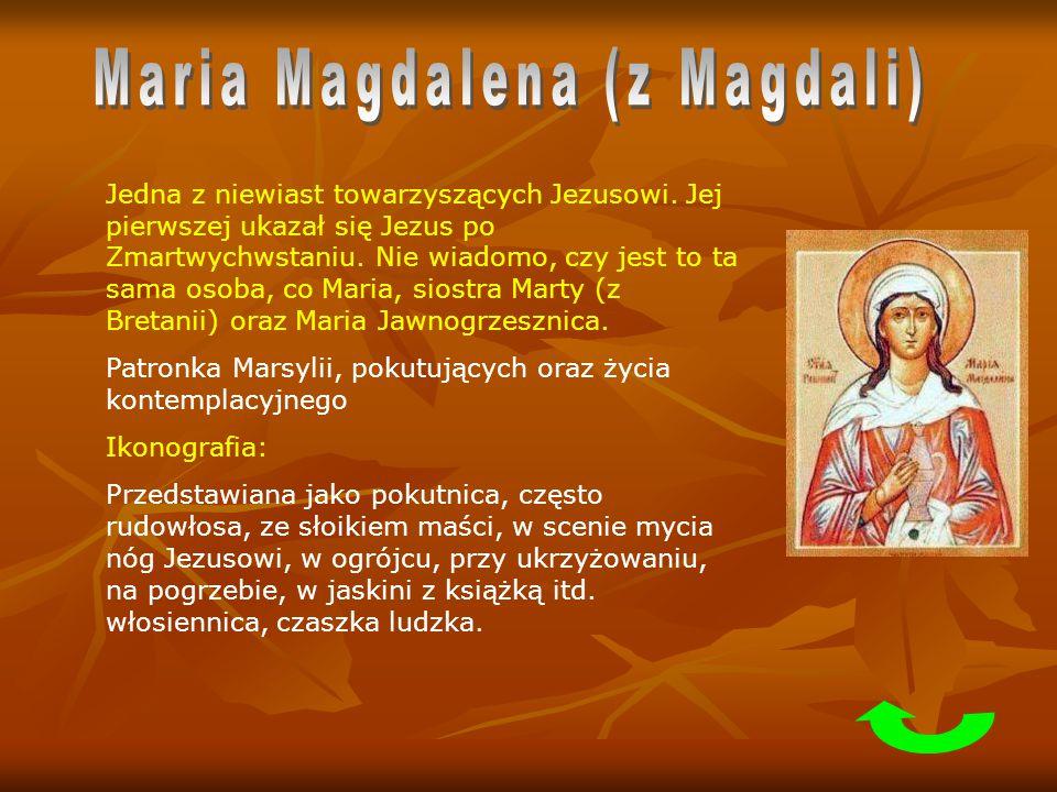 Jedna z niewiast towarzyszących Jezusowi. Jej pierwszej ukazał się Jezus po Zmartwychwstaniu. Nie wiadomo, czy jest to ta sama osoba, co Maria, siostr