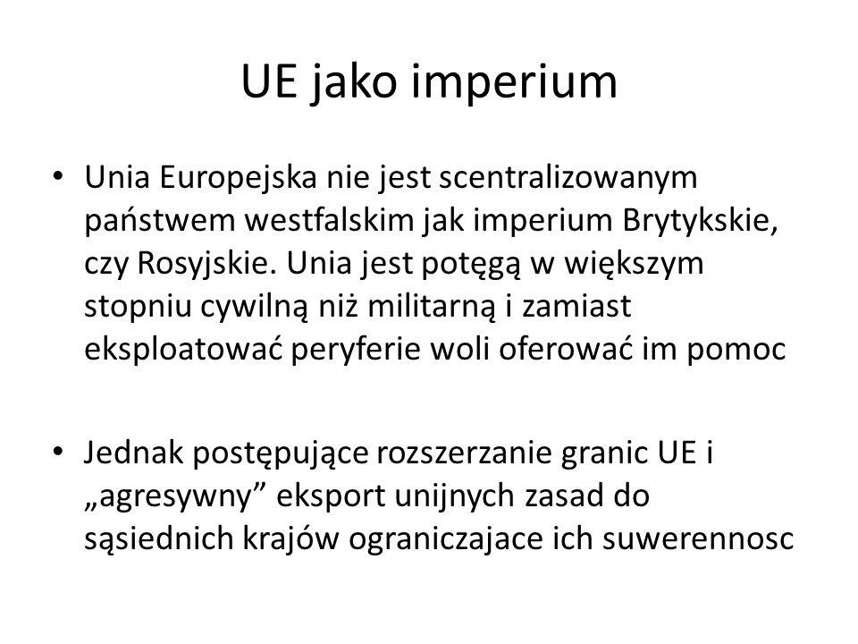 UE jako imperium Unia Europejska nie jest scentralizowanym państwem westfalskim jak imperium Brytykskie, czy Rosyjskie.