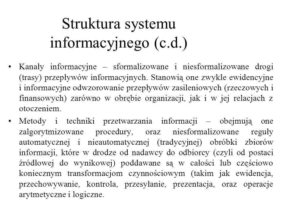 System informacyjny i system informatyczny Przez system informacyjny rozumiemy także obieg informacji zrealizowany tradycyjna metodą ręczną, z danymi rejestrowanymi na formularzach papierowych, i opracowywanymi dalej przez odpowiednich urzędników.