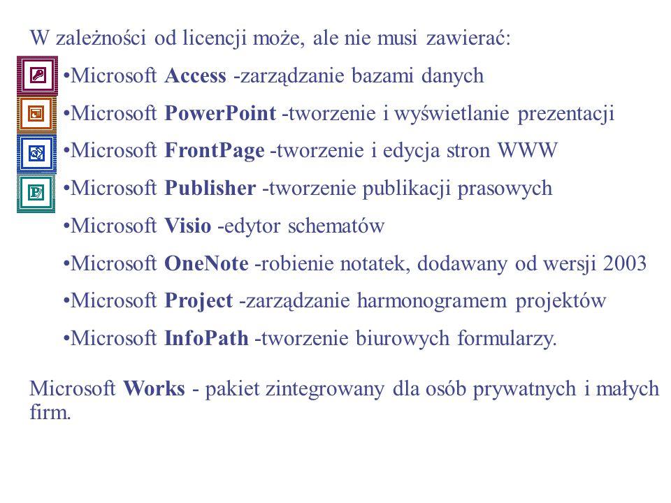 Microsoft Office to pakiet aplikacji biurowych wyprodukowany przez firmę Microsoft. W pakiecie znajdują się aplikacje: Microsoft Word - edytor tekstu,
