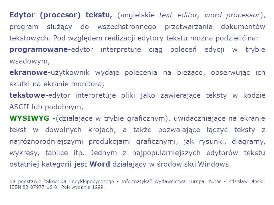 Plan prezentacji:  Aplikacje: Edytory tekstu  OpenOffice a Microsoft Office  Podstawowe aplikacje Pakietu Office  MS Word  Podstawowe informacje