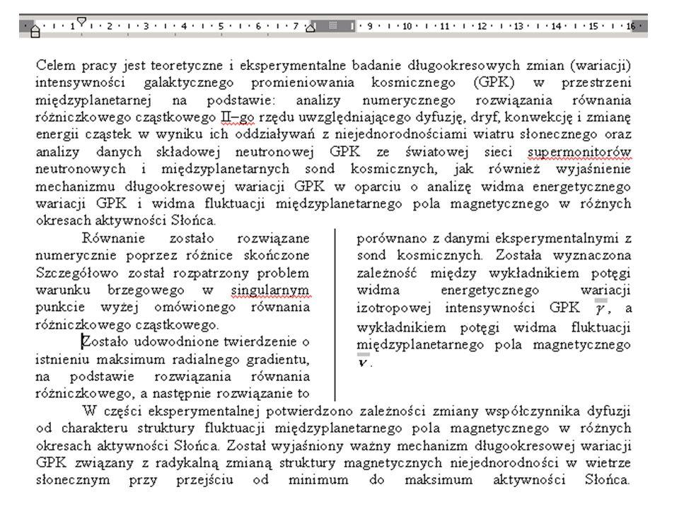 Kolumny Format / Kolumny....