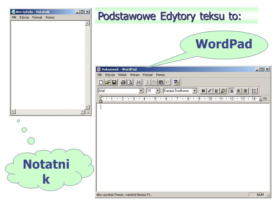 Edytor tekstu – program przeznaczony do pisania, modyfikowania i drukowania tekstów. Redagowanie dokumentu – wszystkie czynności związane z opracowani