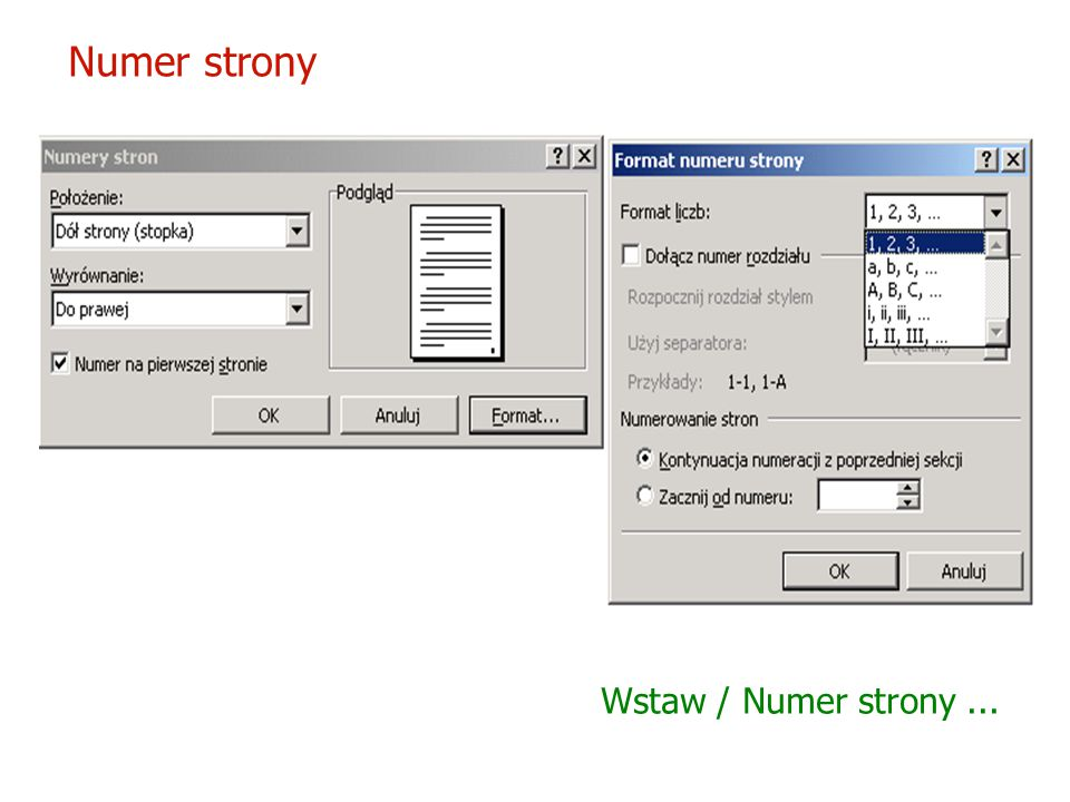 Symbole Wstaw / Symbol...