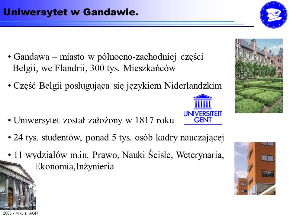 Gandawa – miasto w północno-zachodniej części Belgii, we Flandrii, 300 tys.