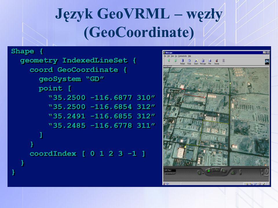 Język GeoVRML – węzły (GeoCoordinate)