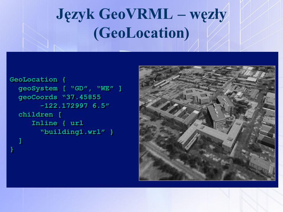 Język GeoVRML – węzły (GeoLocation)