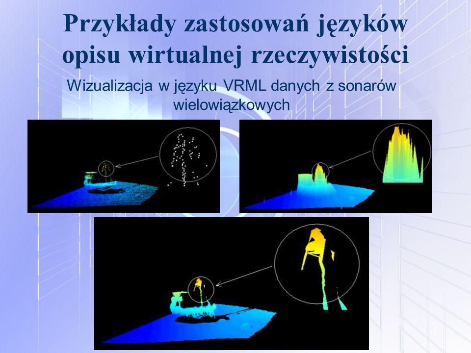 Przykłady zastosowań języków opisu wirtualnej rzeczywistości Wizualizacja w języku VRML danych z sonarów wielowiązkowych
