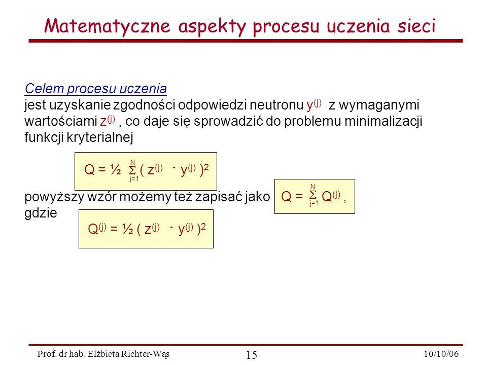 10/10/06 15 Prof.dr hab.