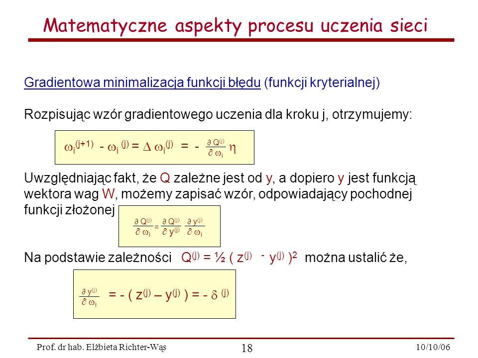 10/10/06 18 Prof.dr hab.