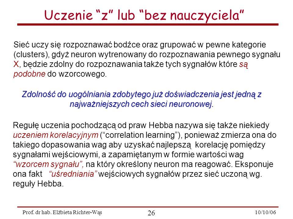10/10/06 26 Prof.dr hab.