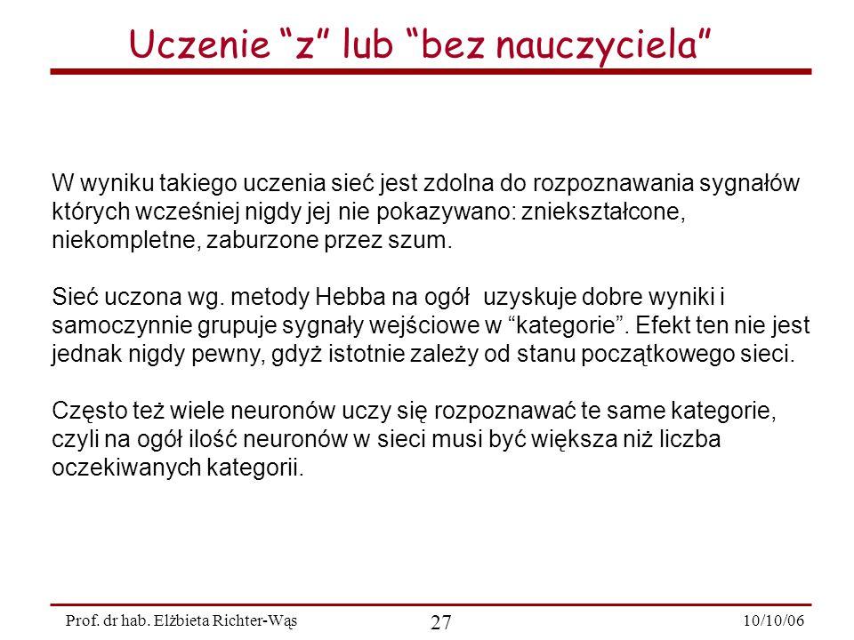 10/10/06 27 Prof.dr hab.