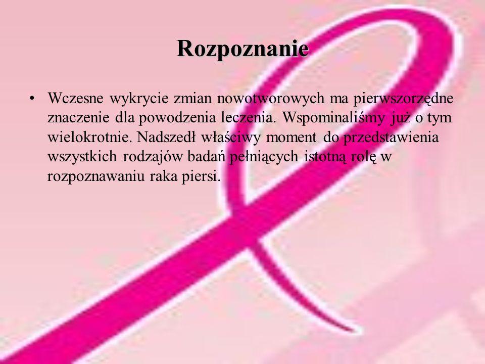 Rozpoznanie Wczesne wykrycie zmian nowotworowych ma pierwszorzędne znaczenie dla powodzenia leczenia.
