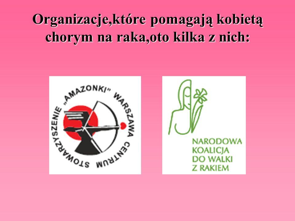 Organizacje,które pomagają kobietą chorym na raka,oto kilka z nich: