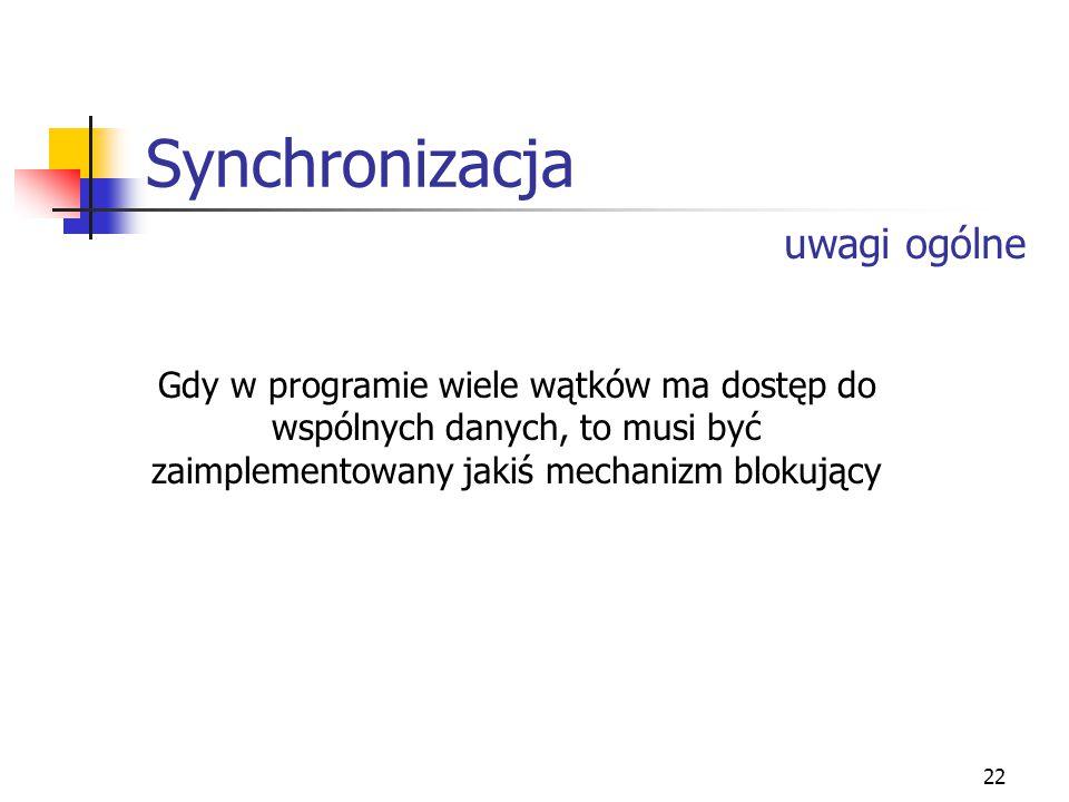 23 Synchronizacja cd.