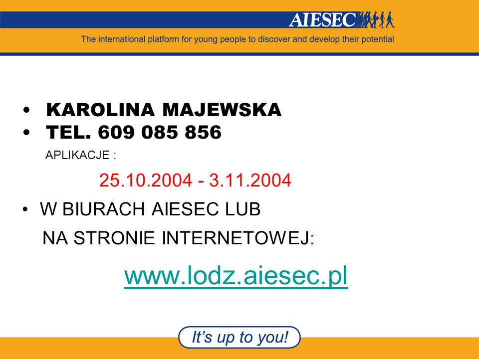 KAROLINA MAJEWSKA TEL.
