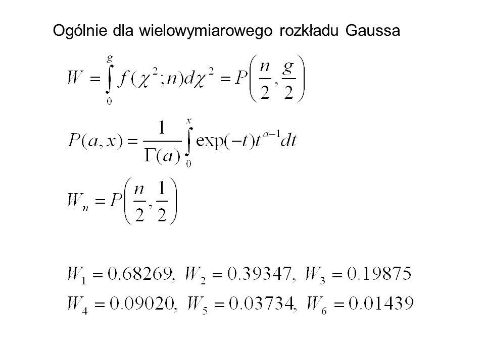 Ogólnie dla wielowymiarowego rozkładu Gaussa