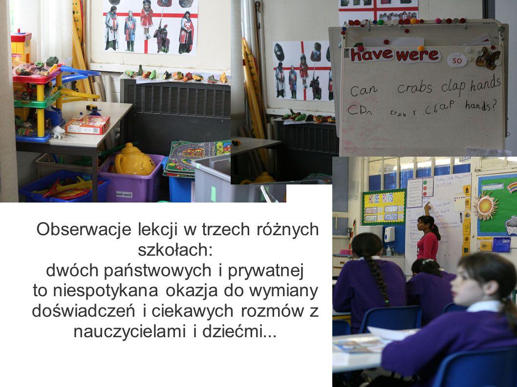 Obserwacje lekcji w trzech różnych szkołach: dwóch państwowych i prywatnej to niespotykana okazja do wymiany doświadczeń i ciekawych rozmów z nauczycielami i dziećmi...