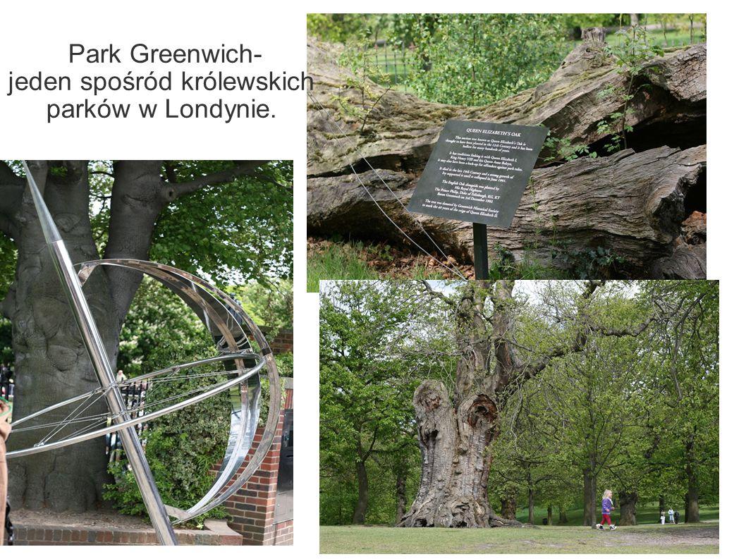 Park Greenwich- jeden spośród królewskich parków w Londynie.