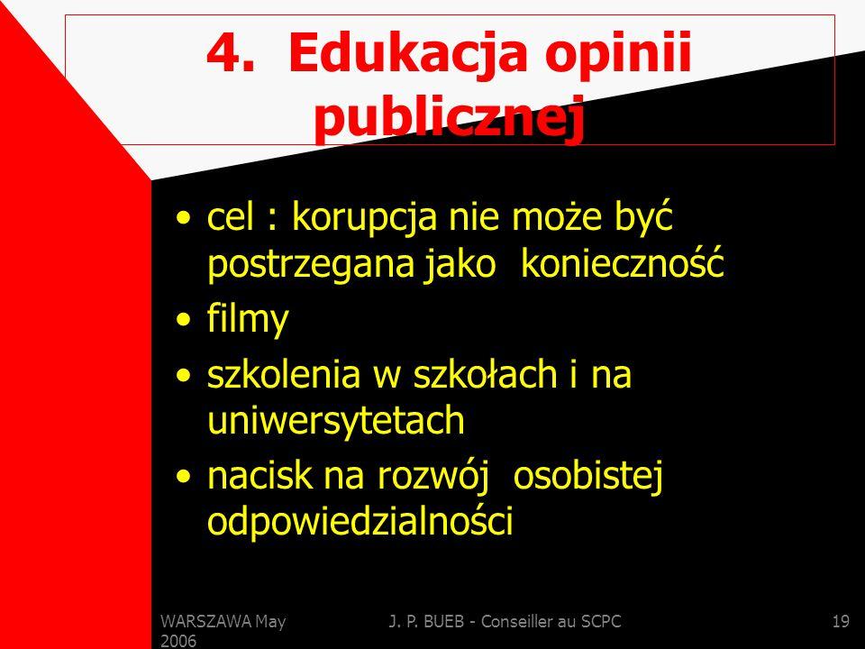 WARSZAWA May 2006 J. P. BUEB - Conseiller au SCPC19 4.