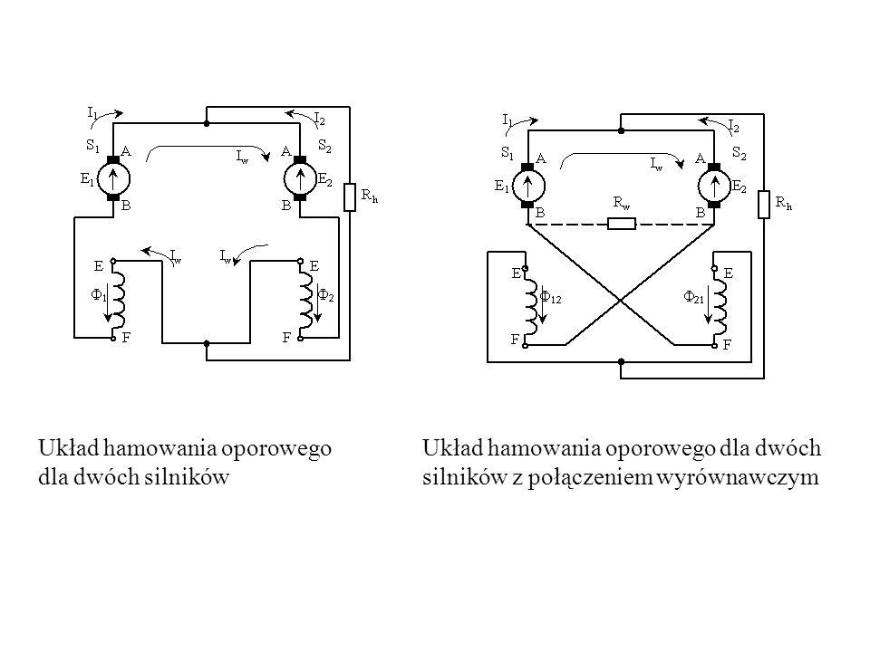 Układ hamowania oporowego dla dwóch silników Układ hamowania oporowego dla dwóch silników z połączeniem wyrównawczym