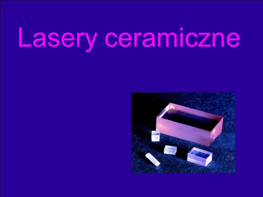● Definicja ceramiki ● Właściwości materiałów na matryce laserów na ciele stałym ● Porównanie własności matryc monokrystalicznych i ceramicznych ● Porównanie parametrów lasera Nd:YAG monokrystalicznego i ceramicznego ● Mikrolaser ceramiczny ● Pompowanie falami o innych długościach ● Ceramiczne Lasery kompozytowe