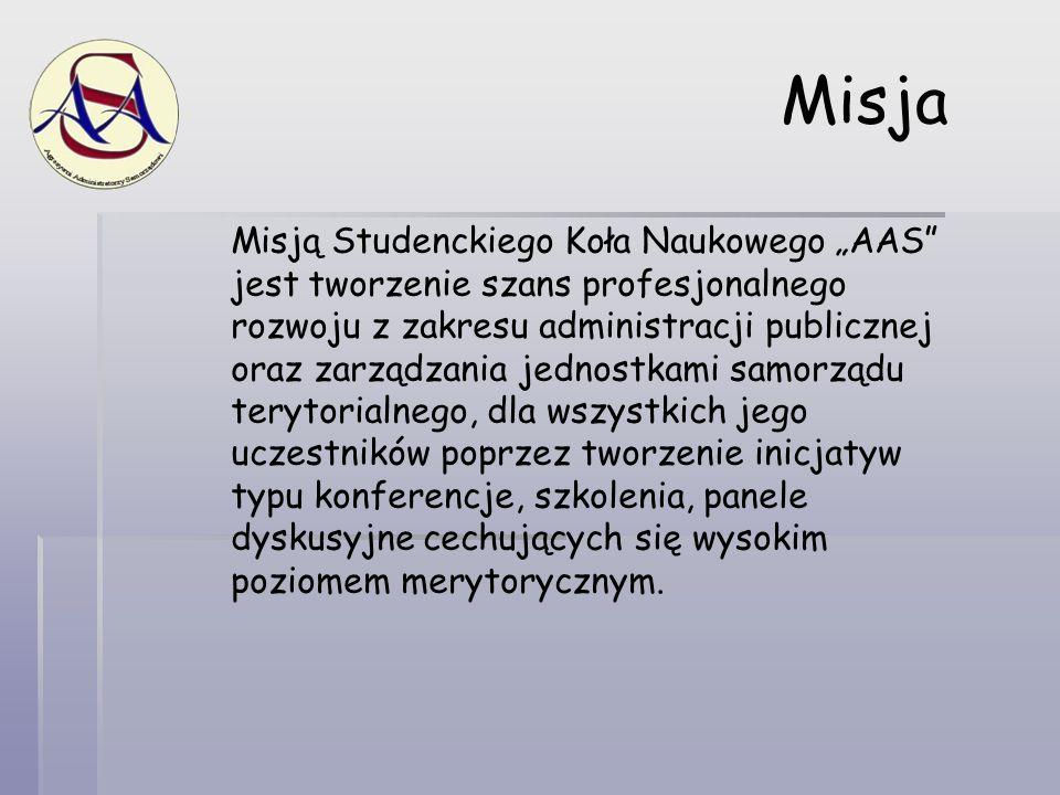Korzyści z uczestnictwa w AAS Merytoryczne spotkania nt.