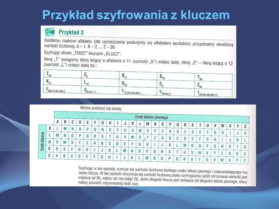 Przykład szyfrowania z kluczem
