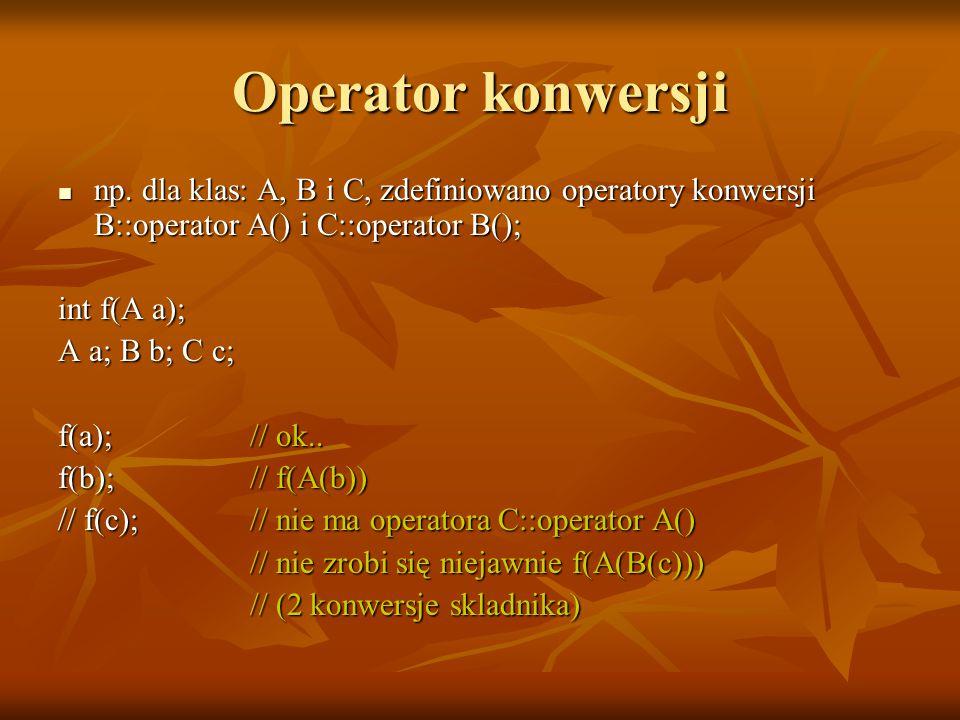 Operator konwersji np.