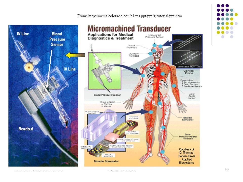 Mikrosensory półprzewodnikoweWykład 2, 2010/1148 From: http://mems.colorado.edu/c1.res.ppt/ppt/g.tutorial/ppt.htm