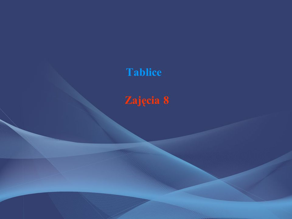 Definicja Tablica (z ang.