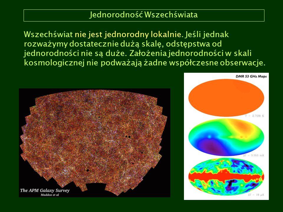 Modele Wszechświata Model kosmologiczny: matematyczny model Wszechświata.