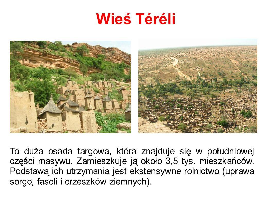 Wieś Téréli To duża osada targowa, która znajduje się w południowej części masywu.