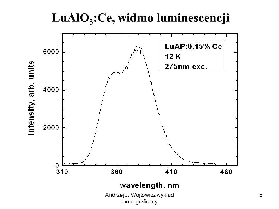 Andrzej J. Wojtowicz wyklad monograficzny 5 LuAlO 3 :Ce, widmo luminescencji