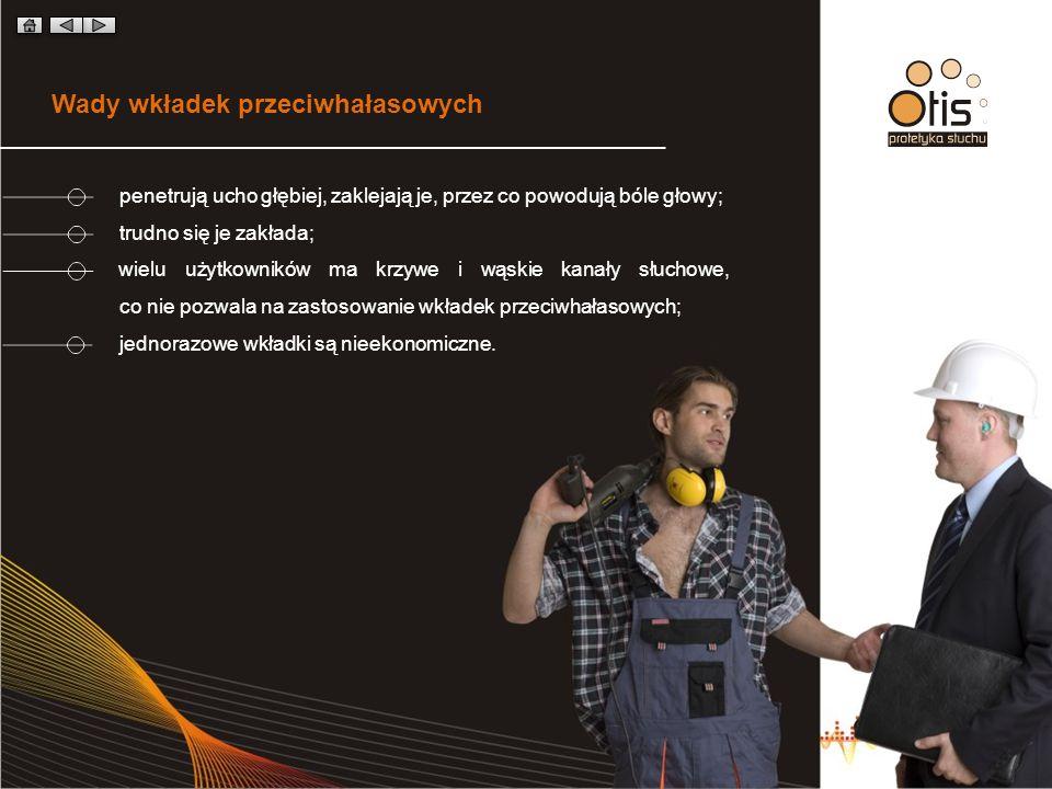 Zalety ochronników słuchu KOMFORT Ochronniki są niewidoczne, higieniczne i bezpieczne.