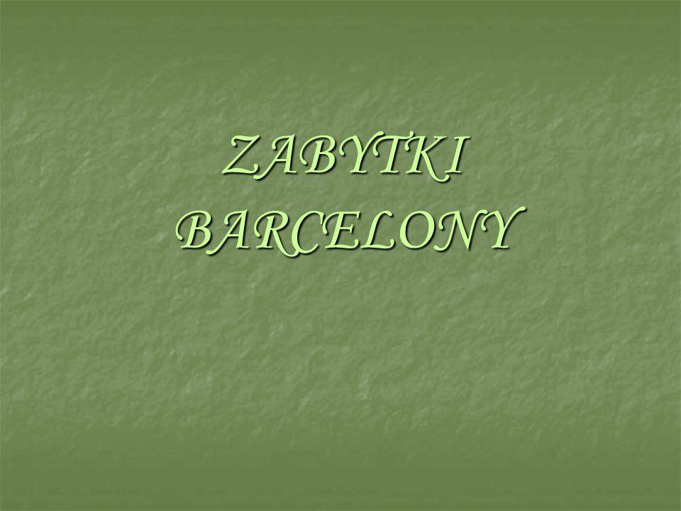 BARCELONA Miasto w północno-wschodniej Hiszpanii, nad Morzem Ś ródziemnym, stolica prowincji oraz regionu autonomicznego Katalonii.