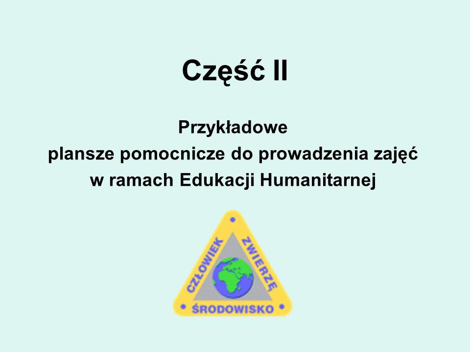 Część II Przykładowe plansze pomocnicze do prowadzenia zajęć w ramach Edukacji Humanitarnej