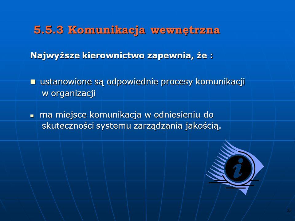 32 5.5.2 Przedstawiciel kierownictwa - członek kierownictwa, - odpowiedzialność i uprawnienia : zapewnienie wdrożenia podejścia procesowego raportowan