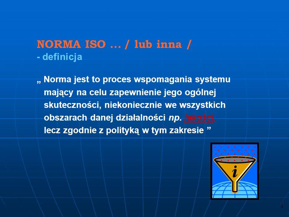 24 4.2 Wymagania dotyczące dokumentacji Księga jakości Organizacja powinna ustanowić i utrzymywać księgę jakości, która zawiera: a) zakres systemu zarządzania jakością, łącznie z ewent.