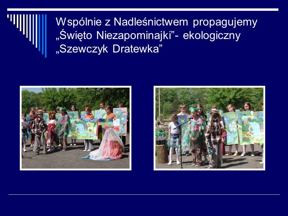 """Wspólnie z Nadleśnictwem propagujemy """"Święto Niezapominajki - ekologiczny """"Szewczyk Dratewka"""